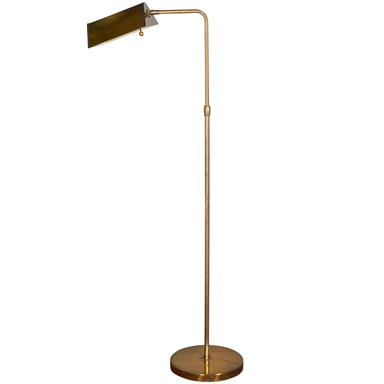 1960s brass walnut and colored glass birdcage floor lamp for sale 1960s brass pharmacy floor lamp aloadofball Gallery
