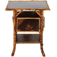 Victorian Anglo-Japanese Tortoiseshell Bamboo Table