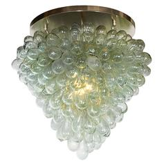 Flush Mount 'Grape Cluster' Blown Glass Light Fixture