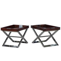 Pair of Modern Tray Tables