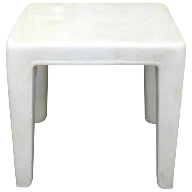 Spectacular Carved Solid Marble Occasional Table
