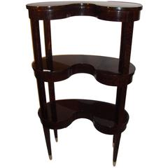 Jonathan Charles Kidney Shaped Three-Tier Etagere