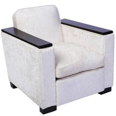 Art Deco Armchair or Club chair Attributed to Jacques Adnet