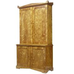 Fine Quality Swedish 19th Century Birch Cabinet