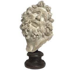 Academic Cast of Plaster Depicting Laocoonte's Head