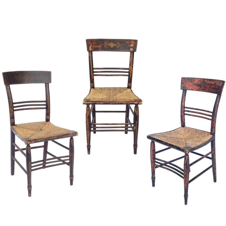 18th Century New England Dining Chairs At 1stdibs