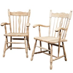 Pair of English Oak Armchairs
