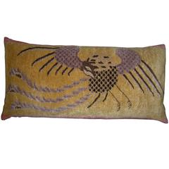 Antique Hand Knotted Chinese Pillow, circa 1900