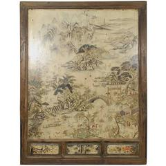 19th Century Chinese Folk Landscape Painting