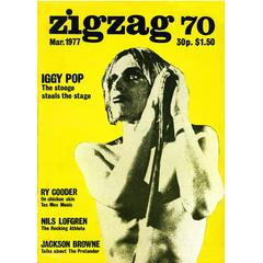 Vintage Iggy Pop Zig Zag Magazine