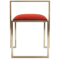 Red Coral Brass Clip Chair