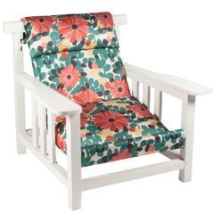White Enameled Wood Armchair by Pierre Dariel