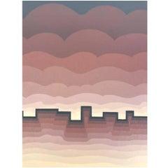 """Roy Ahlgren Silk Screen Print """"Pueblo"""""""