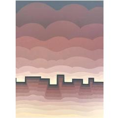 "Roy Ahlgren Silk Screen Print ""Pueblo"""
