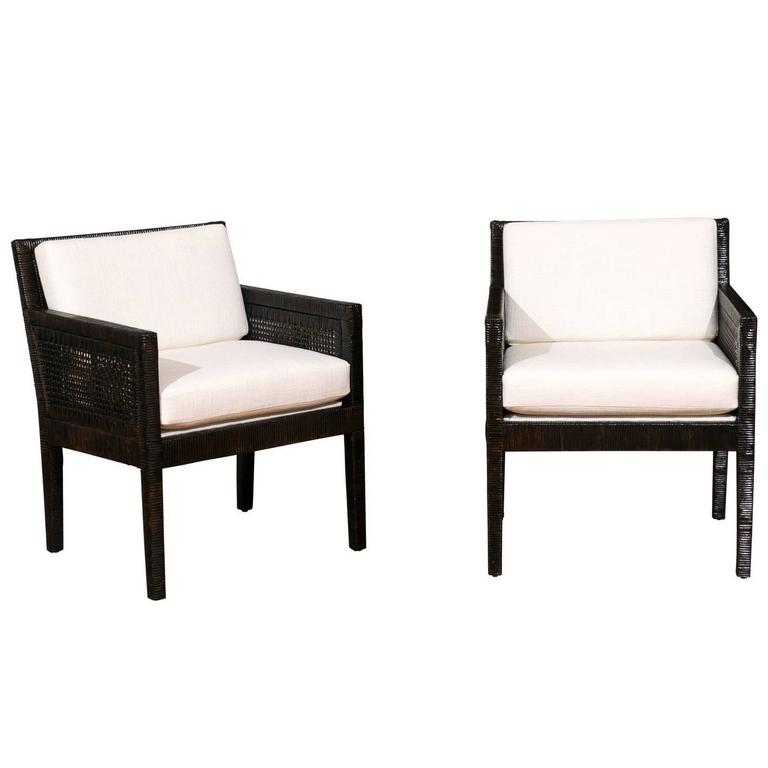 Exquisite Pair of Restored Loungers by Billy Baldwin for