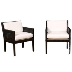 Exquisite Pair of Restored Loungers by Billy Baldwin for Bielecky Brothers