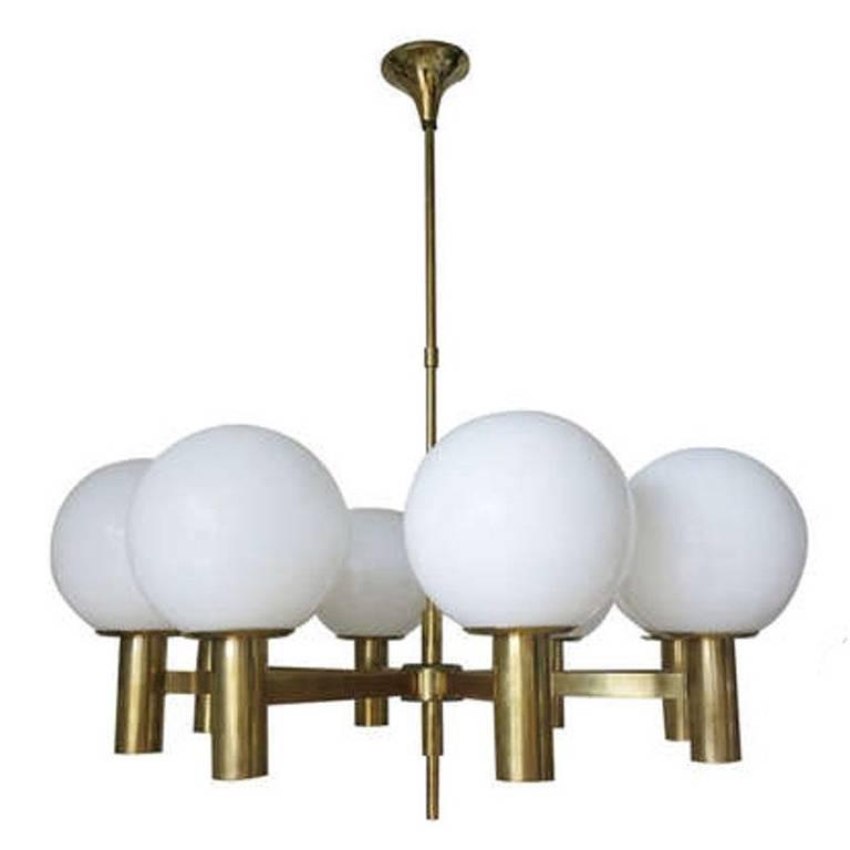 Eight Globes Chandelier by Sergio Mazza