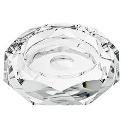 Wayne Ashtray in Carved Crystal Glass