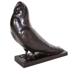 French Art Deco Period Bronze Bird Signed S. Boutarel