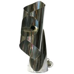Italian Mid-Century Chrome Table Lamp by Sciolari