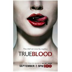"Large ""TRUE BLOOD"" HBO Poster"