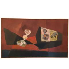 Expressionist Abstract Painting by Richard Harrison Crist, 1950s