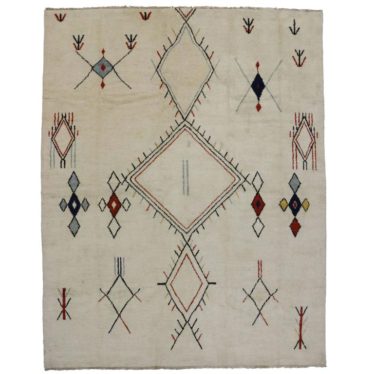 Vintage Moroccan Area Rug For Sale At 1stdibs: Contemporary Moroccan Style Area Rug With Tribal Design