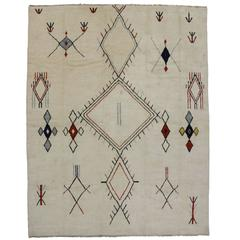Contemporary Moroccan Style Area Rug with Nomadic Tribal Design and Hygge Vibes