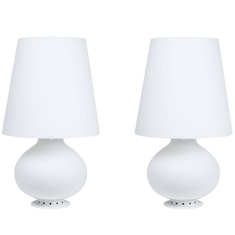 Large Max Ingrand Glass Fontana Table Lamp
