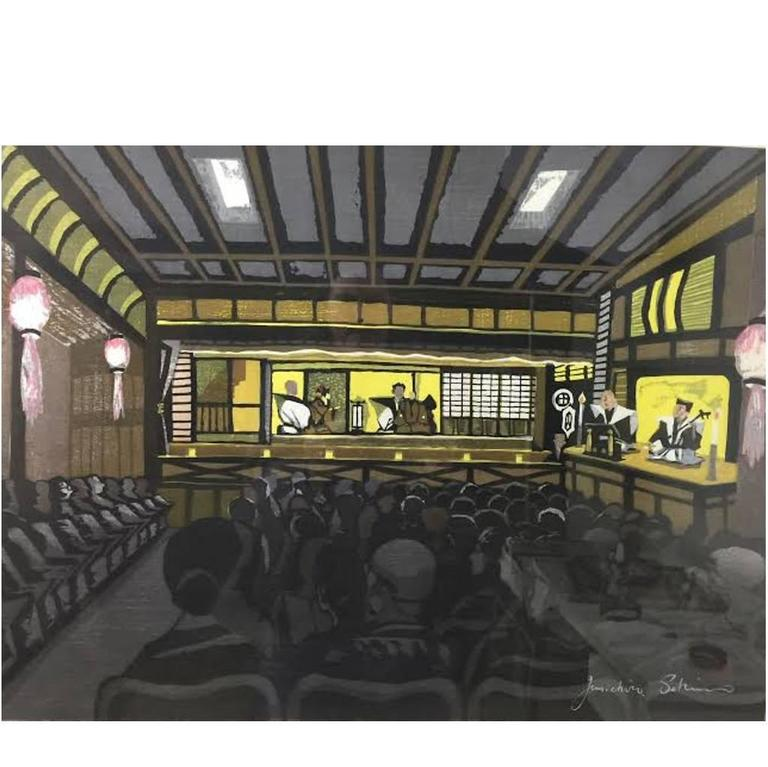 Junichiro Sekino Limited Edition Japanese Woodblock Print
