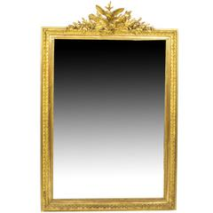 Antique French Giltwood Overmantel Mirror, circa 1860