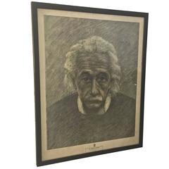 1950s New York Graphic Society Print of Albert Einstein