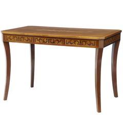 Art Deco Inlaid Mahogany Writing Table Desk