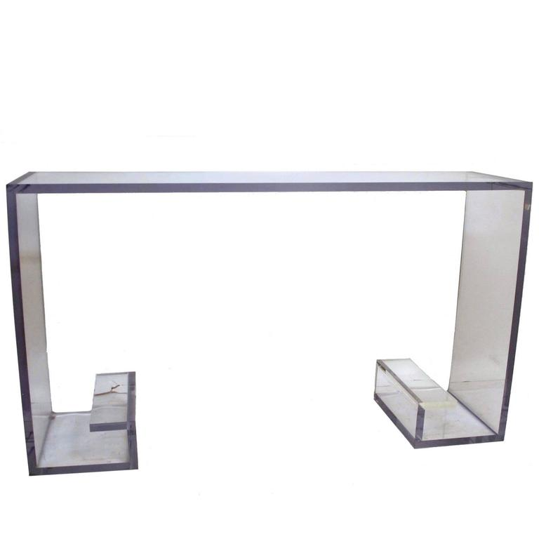 Mid-20th Century Lucite Console Table