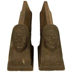 Pair of Figural Andirons, 19th Century