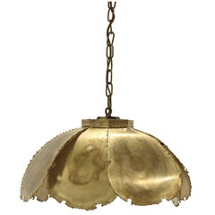Scandinavian Ceiling Light in Brass by Svend Aage Holm Soresen, 1970s