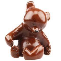 Collectable Austrian Ceramic Terracotta Leopold Anzengruber Sitting Bear