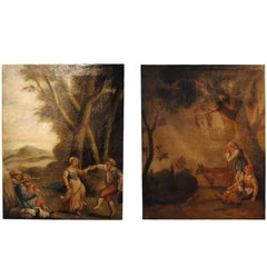 Pair of 19th Century French Pastoral Oil Paintings