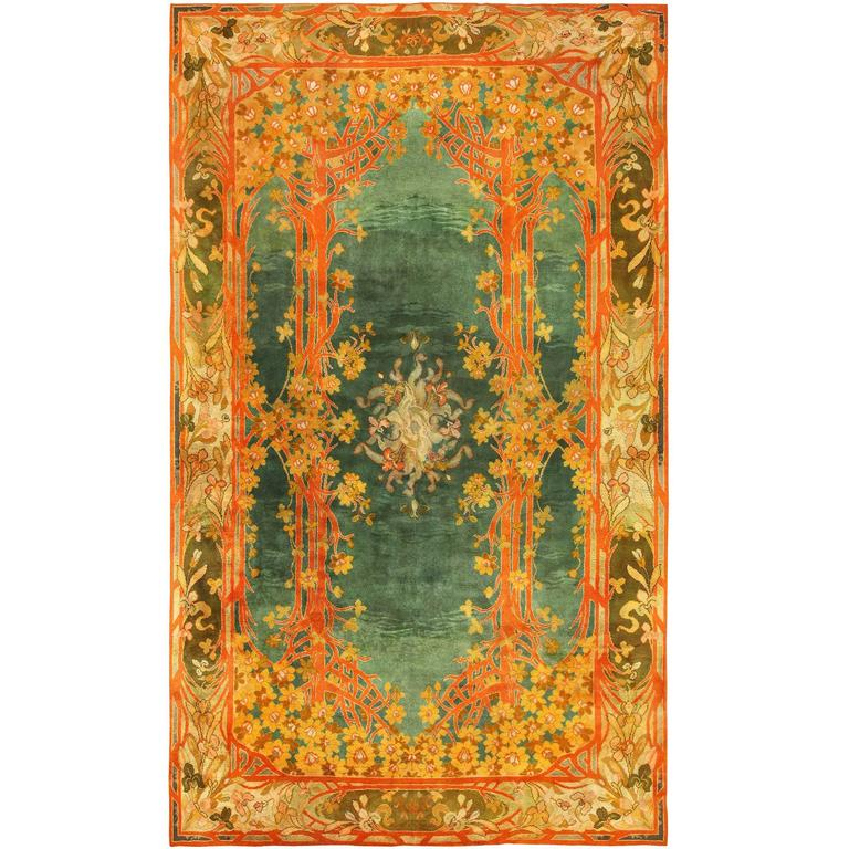 Antique Art Nouveau Donegal Rug For Sale At 1stdibs