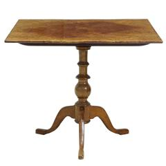 19th Century Alder Root Tilt-Top Square Table