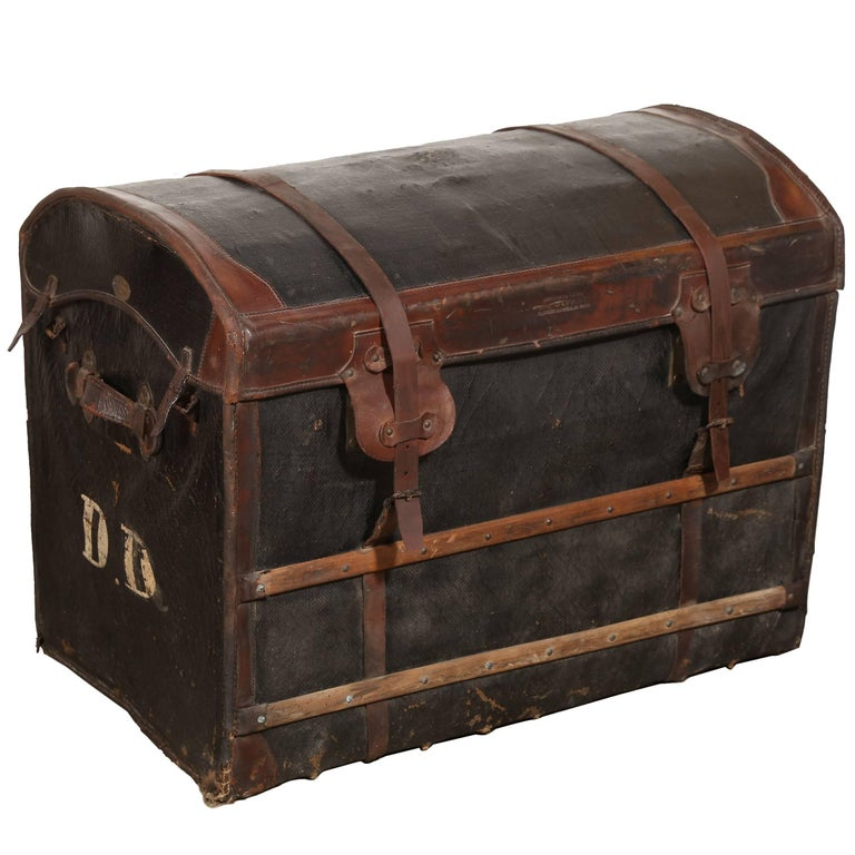 Au Depart Leather Trunk For Sale