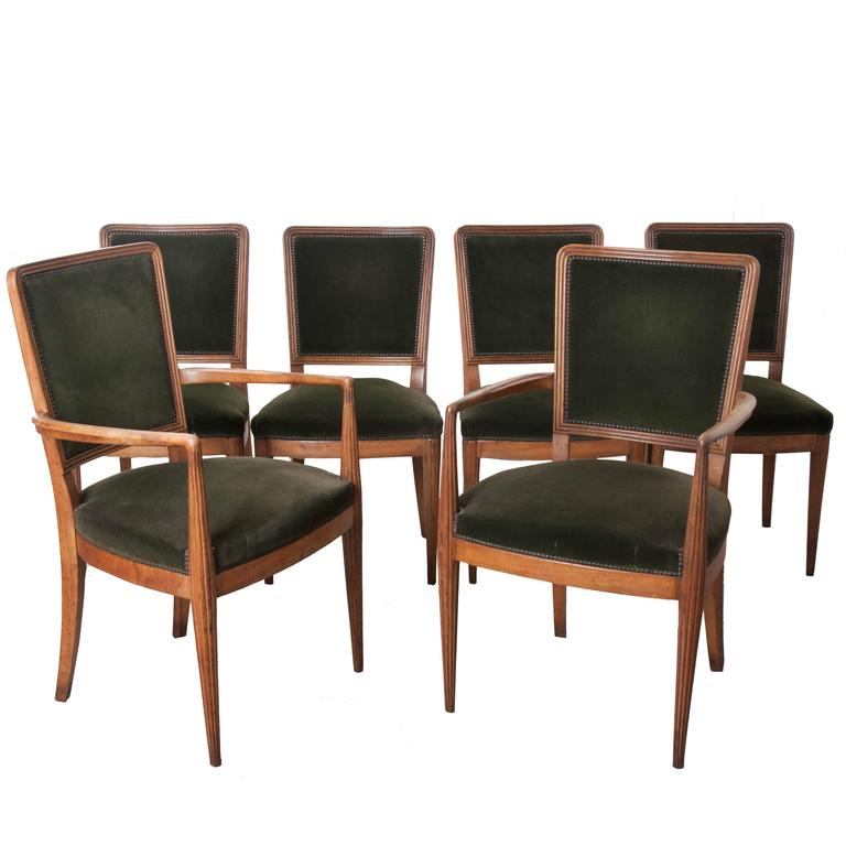 Set Of Six Early 20th Century Art Deco Dining Chairs At 1stdibs