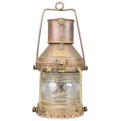 Copper Anchor Lantern, Midcentury