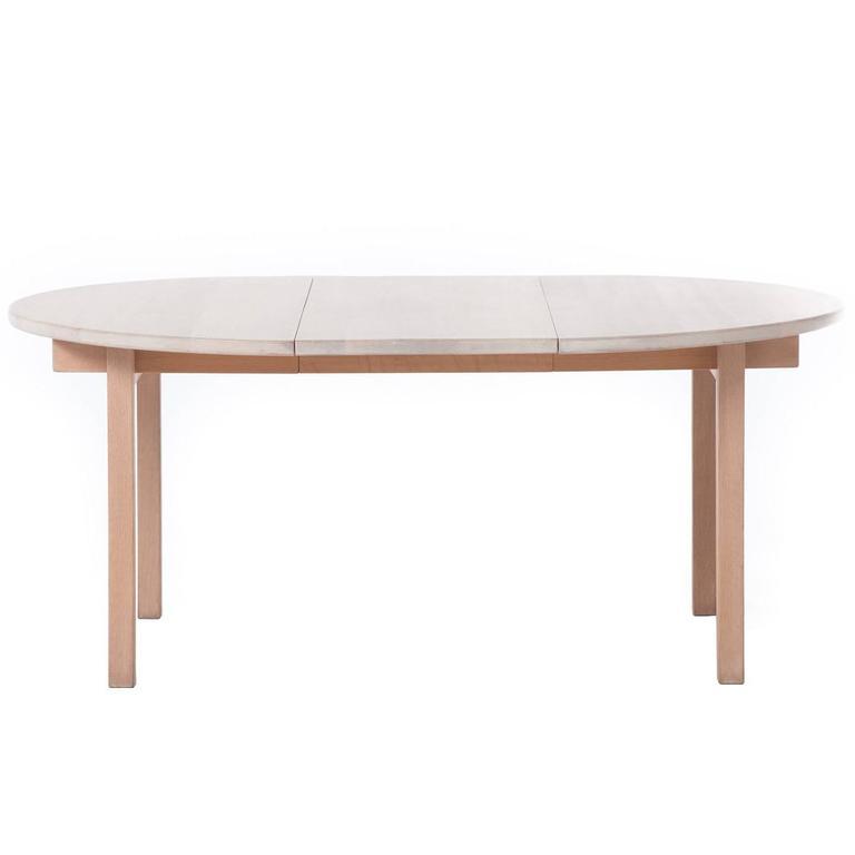 Danish Modern White Oak Dining Table At 1stdibs