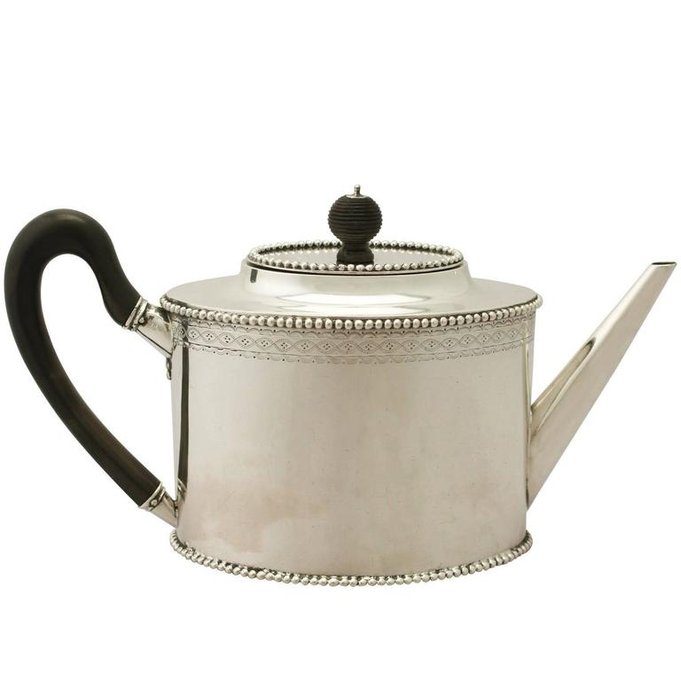 Dutch Silver Teapot, Antique, 1801