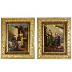 Pair of 20th Century Framed Oil on Canvas Paintings