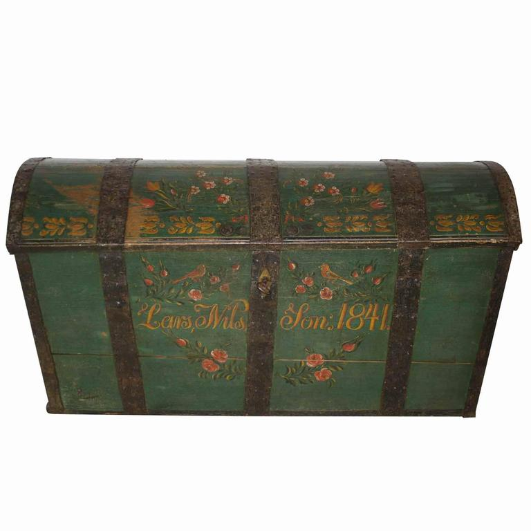 Swedish Dowry/Wedding Trunk Dated 1841