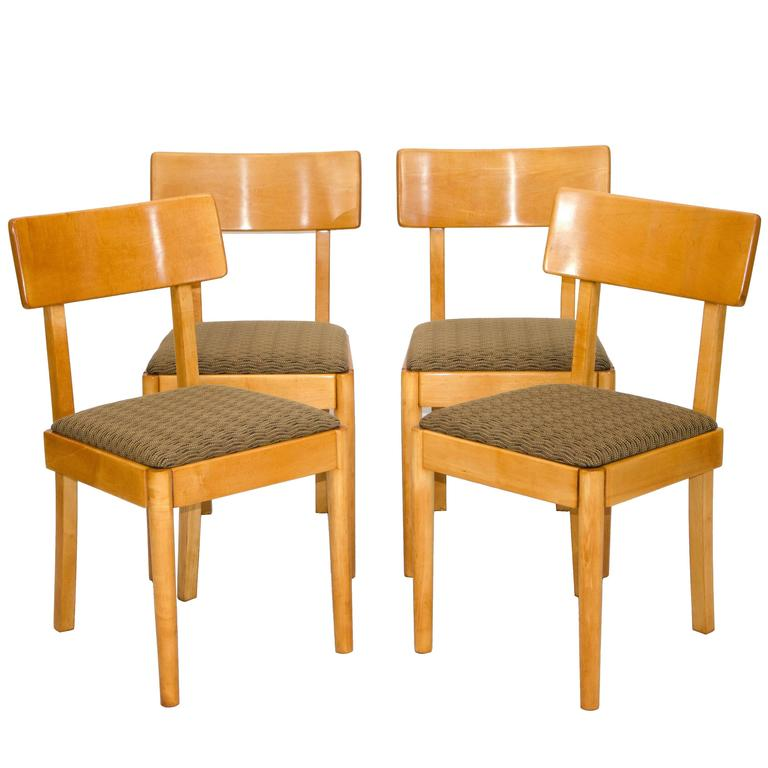 Set Of Four Dining Chairs Russel Wright Young American Modern For Conant Ball