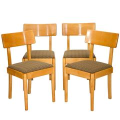 "Set of Four Dining Chairs, Russel Wright ""Young American Modern"" for Conant Ball"
