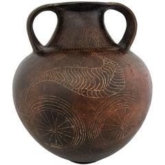 Ancient Etruscan Terracotta Amphora